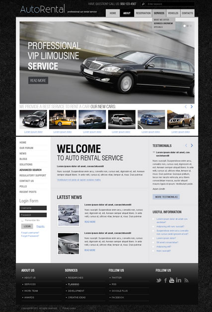 Rent a Car v2.5 - Joomla templates