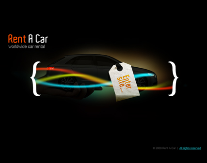Rent a car - Easy flash templates