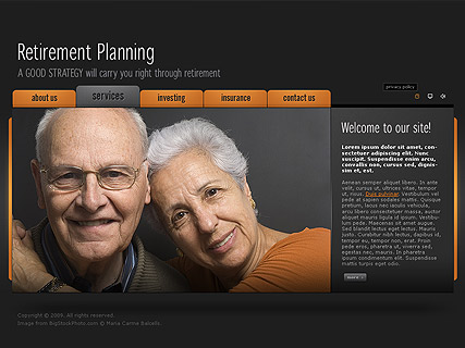 Retirement planning - Easy flash templates