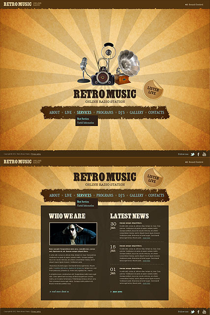 Retro Html Templates ART - Website Templates