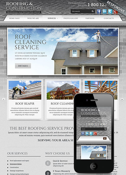 Roofing and Construction - HTML template