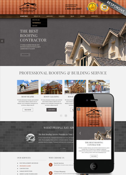 Roofing - Wordpress templates