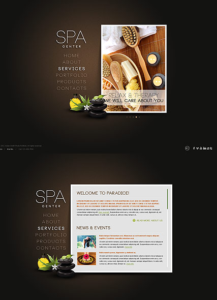 SPA Salon - HTML5 templates