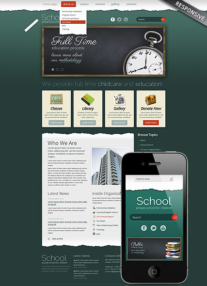 School Theme - Wordpress templates