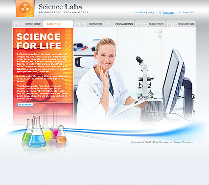 Science - Easy flash templates