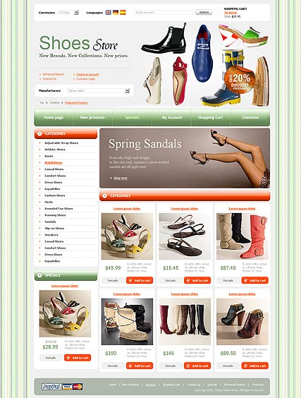 Shoes Store - osCommerce