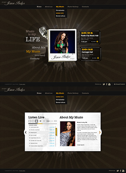 Singer Music - HTML5 templates