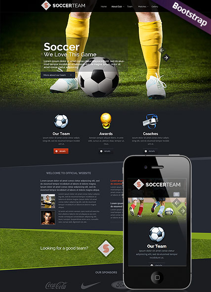 Soccer Club - HTML template