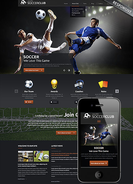 Soccer club - Wordpress templates