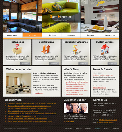 Soft Furniture - HTML template