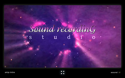 Sound Recording - Flash intro template