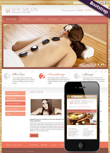 Spa Salon - HTML template