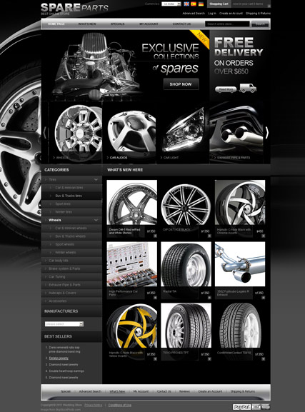 Spare parts 2.3ver - osCommerce