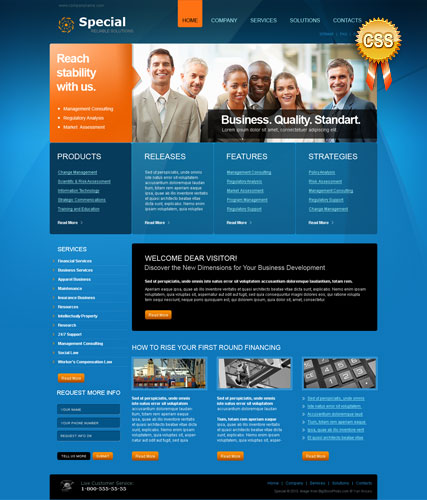 Special Solutions - HTML template