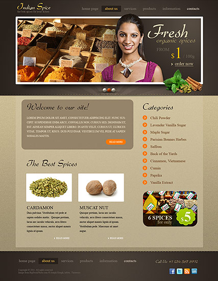 Spices - HTML template