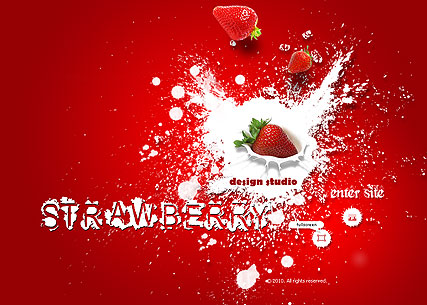 Strawberry Design - Easy flash templates