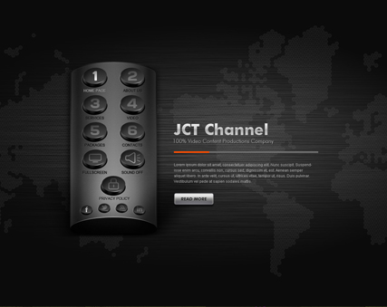 TV Channel - VideoAdmin flash templates