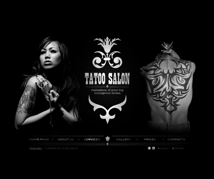 Tattoo - GalleryAdmin flash templates