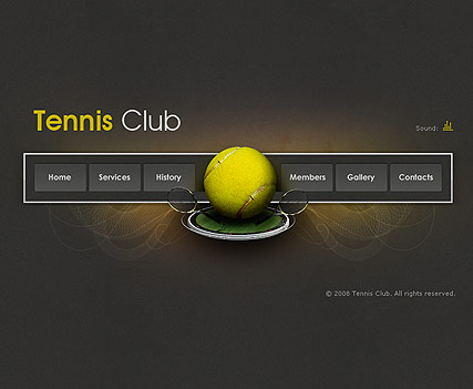 Tennis Club - Easy flash templates