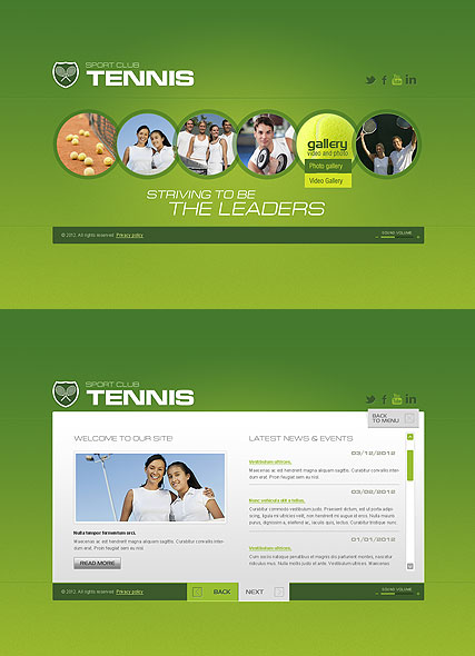Tennis Club - HTML5 templates