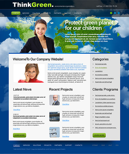 Think Green - HTML template