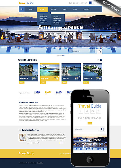 Travel Guide - Wordpress templates