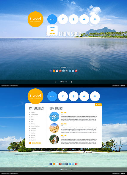 Travel agency - HTML5 templates