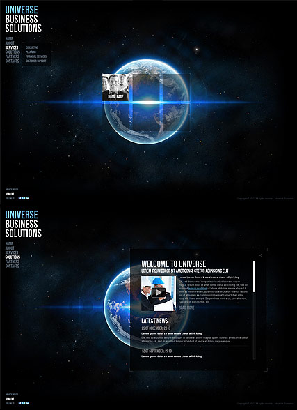 Universe Business - HTML5 templates