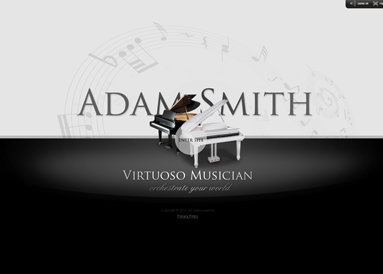 Virtuoso Musician - VideoAdmin flash templates