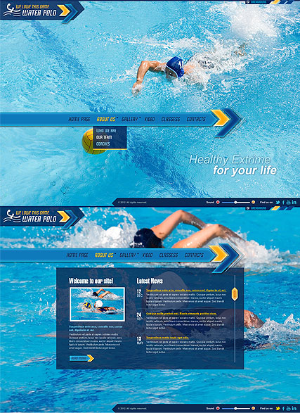 Water Polo - HTML5 templates