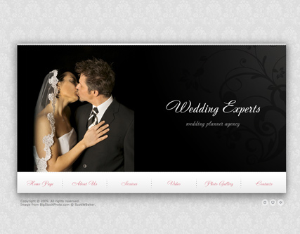 Wedding Experts - VideoAdmin flash templates