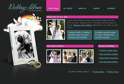 Wedding album - Flash template