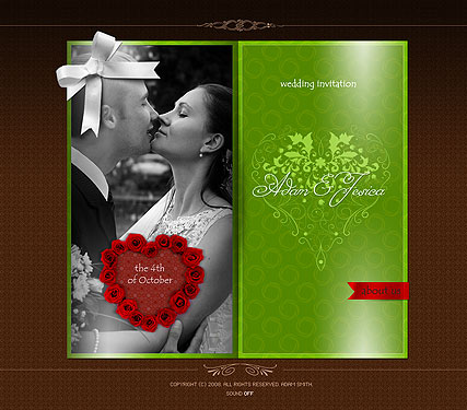 Wedding invitation - Easy flash templates