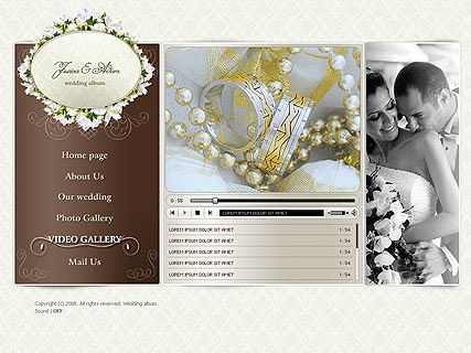 Wedding video album - Easy flash templates