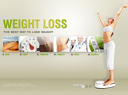 Weight loss - Easy flash templates
