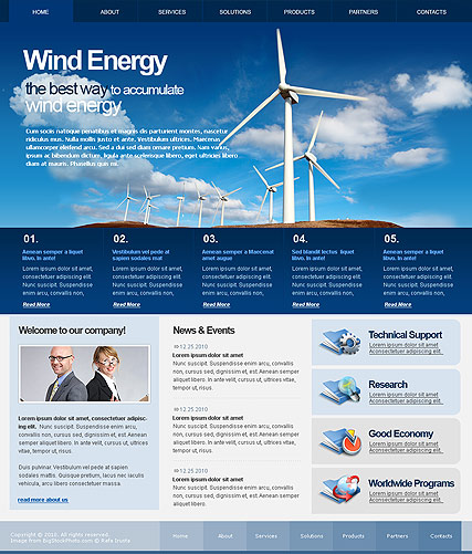 Wind Energy - HTML template