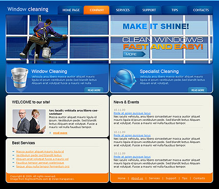 Window Cleaning - HTML template
