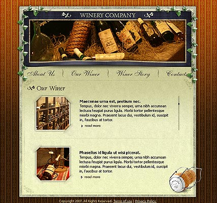Winery co. - Flash template