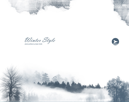 Winter Style - GalleryAdmin flash templates
