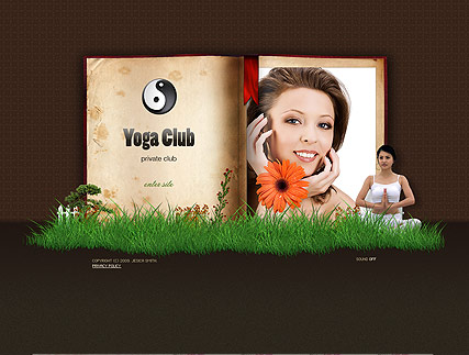 Yoga club - Easy flash templates